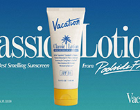 Vacation Classic Lotion - Packaging Design