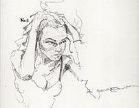 Pen Sketches (square series 1- 10 )