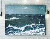 Storm oil paint