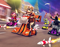 Coffin Dodgers - Kart Racing Game for Steam, PS4 & XBOX