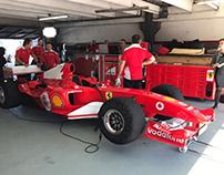 Luis Pérez Companc giró con la Ferrari de Schumacher