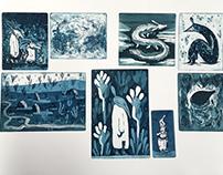 Kinkmole Intaglio Prints