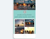 Simple Website Design- Sowal Beach Bonfires