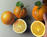 Drawing vs Reality - Oranges