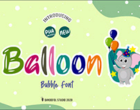 FREE | Balloon Playful Bubble Font