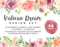 Free 46 Vatican Dream Watercolor Vector Elements