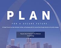 Financial Advisor Website Mockup