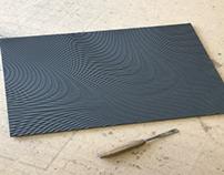Liquid 3d illusion 2D CNC carving