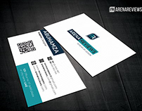 Free Clean White Corporate Creative Business Card
