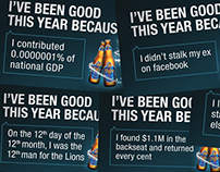 'HAVE YOU BEEN GOOD THIS YEAR' by Tiger Beer Singapore