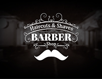Set of barber shop logos