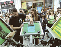 """IKEA"" art event - screen printing workshop"