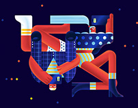 Series of illustrations for Xiaomi advertising campaign
