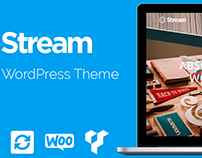 Stream One Page WordPress Theme Theme - Preview