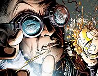 Damage Inc. Comic Book Cover Illustration