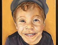 Little boy, portrait 30x40