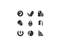 Gray scale logos