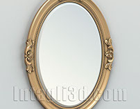 Oval mirror frame 003