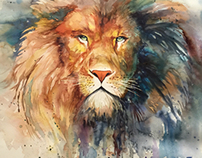 My lion in wotercolor