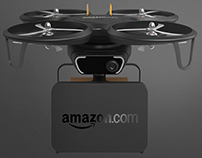 Amazon Delivery Drone & Parcel Box Concept