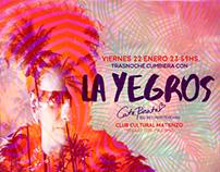 flyer para show de La Yegros  en CC Matienzo.