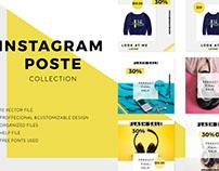 Instagram posts pack -Social Media 2018