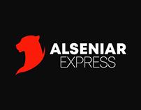 alseniar express shipping company logo