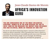 (Jclaudebastos): Africa's Innovation Guru