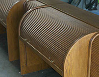 Roll Top Sound Cabinet.