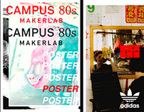 Poster ADIDAS CAMPUS 80s Maker Lab