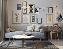 Livingroom scandivian