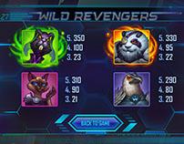 Wild Revengers slot character art.