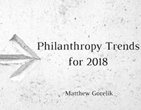 Philanthropy Trends for 2018