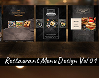 Reataurant Menu Design Collection Vol 01