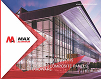 Max ALuminium e-Commerce website design, Branding