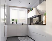 Interior Design kitchen / Warszawa , Poland