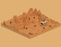 Breaking Bad - Low Poly Isometric