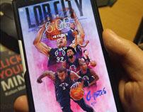 """LA CLIPPERS """"LOB CITY"""" Smartphone lock screen wallpaper"""