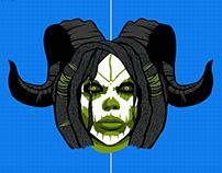 Gamepad design Paragon, Epic Games