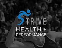 Strive Health + Performance - Web Design & Print Design