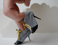 miniatures paper shoes