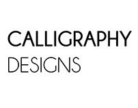 CALLIGRAPHY DESIGNS