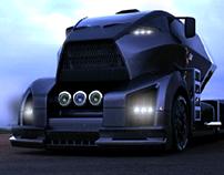 Blue hawk truck