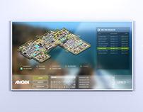 Amgen - Wayfinding Kiosk - 3D Renders & UI/UX