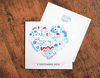 Hell Yes! Wedding Invites // Print design