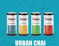 Label Design for Urban Chai Tea Company.