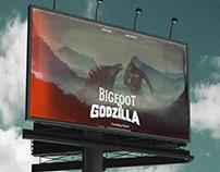 Concept Poster: Bigfoot vs Godzilla