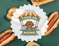 Tour de Weenie: Hot Dog Crawl Logo
