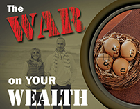"""War on Your Wealth"" radio series promotion"