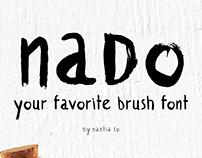naDo Font | The Brush Font
